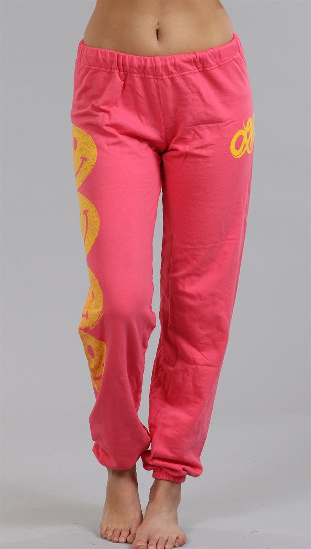 Lauren Moshi Happy Face Erin LMV Pants in Pink Sherbert