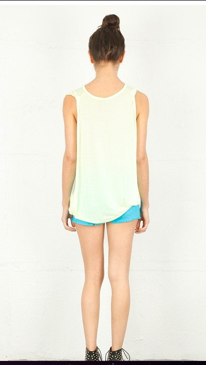 Lauren Moshi Effie Muscle Tank in Sunshine