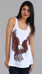 Lauren Moshi Eagle Lily Basic Swing Tank in White