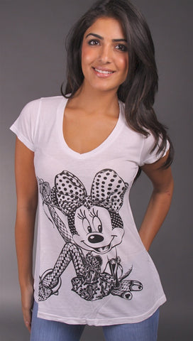 Lauren Moshi Minnie Madison Perfect V Neck in White