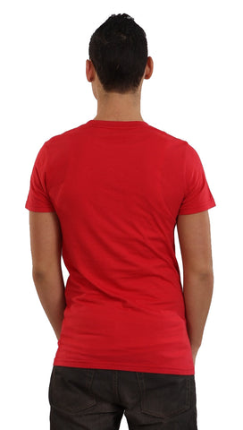 Local Celebrity Mens Team 'I' Player Tee Shirt in Red