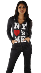 Local Celebrity NY Loves Me Hoodie in Charcoal