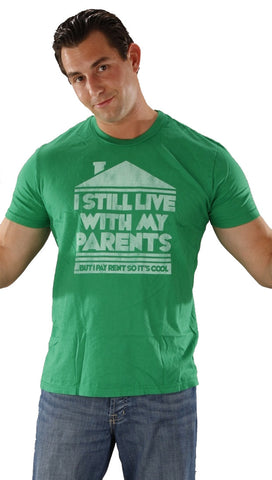 Local Celebrity Live With Parents Crew Neck Tee Shirt Green