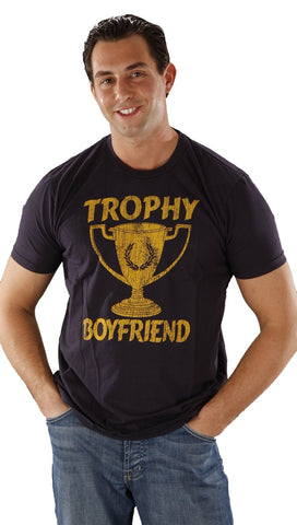 Local Celebrity Mens Trophy Boyfriend Tee Shirt in Navy Blue