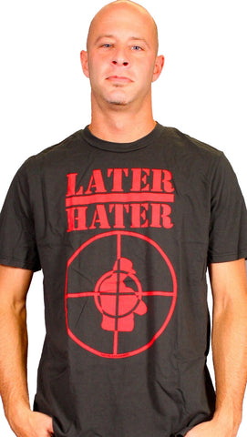 Local Celebrity Mens Later Hater Tee in Black