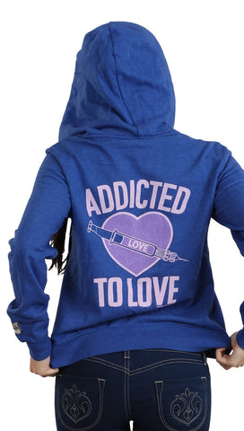 ocal Celebrity Womens Addicted To Love Hoody in Royal Blue