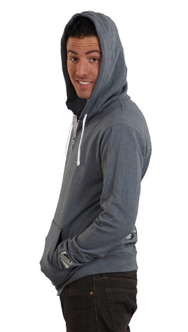 Local Celebrity Mens Damn I'm Good Zip Up Hoody Asphalt Grey