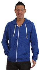 Local Celebrity Mens Loose Lips Sink Ships Zip Up Hoodie Royal Blue