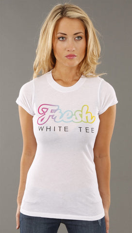 Local Celebrity Fresh White Tee