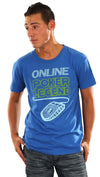 Local Celebrity Mens Online Poker Legend Tee Shirt in Royal Blue