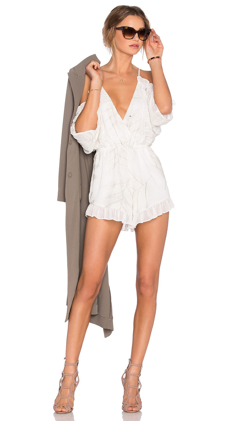 Lovers + Friends Malia Open Shoulder Romper