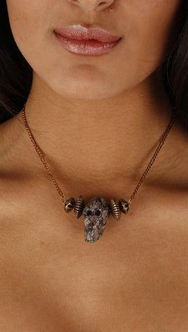 Lynnie B. Multi-Colored Skull Necklace