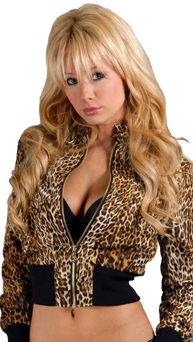 Members Only Cropped Jacket Leopard