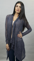 Michael Lauren Issac Long Sleeved Cardigan in Navy