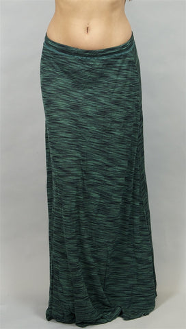 Michael Lauren Julian Long Skirt in Topaz Green