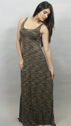 Michael Lauren Pax Long Tank Maxi Dress in Latte