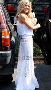 Michelle Jonas Long Hippie Skirt in White