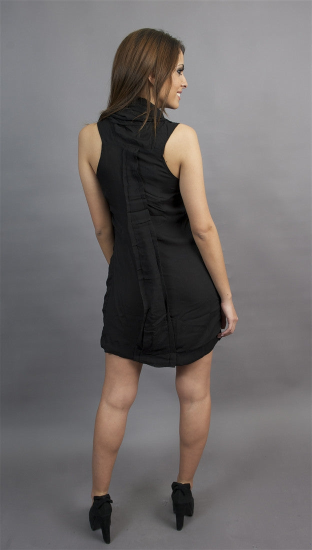 Miilla Cowl Neck Dress in Black