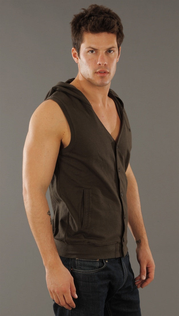 Morphine Generation Button Down Hooded Vest