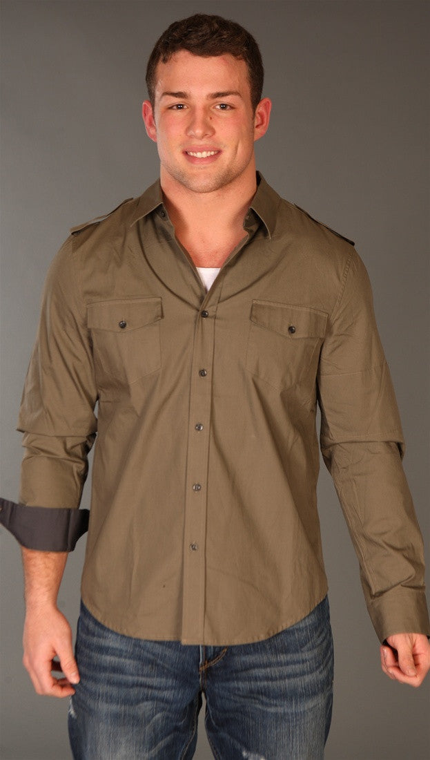 Morphine Generation Button Down Dress Shirt