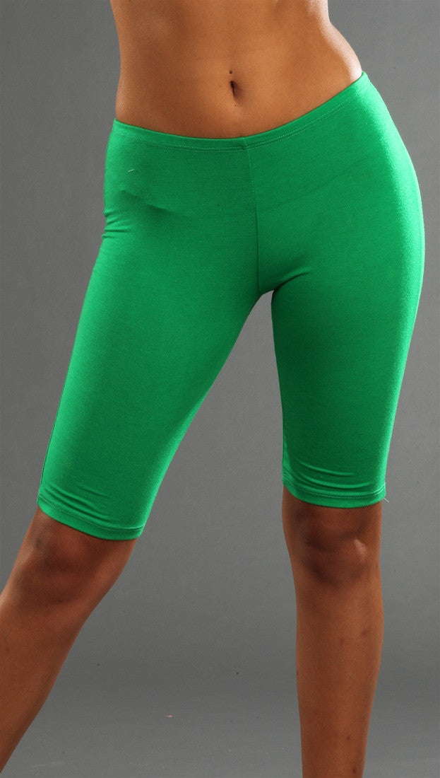 Cotton Biker Short in Green or Yellow