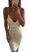 Michelle Gold Floral Sequin Sheath Sexy Mini Holiday Dress White