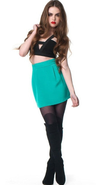Naven Bubble Skirt in Turquoise