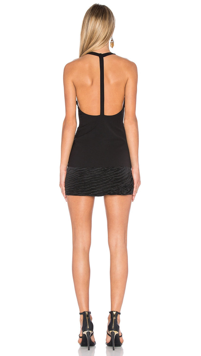 NBD Evelyn Dress Black T Back