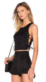 NBD Tie It Up Crop Top Black
