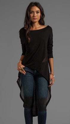 Nightcap Clothing Cape Tee Tunic in Black