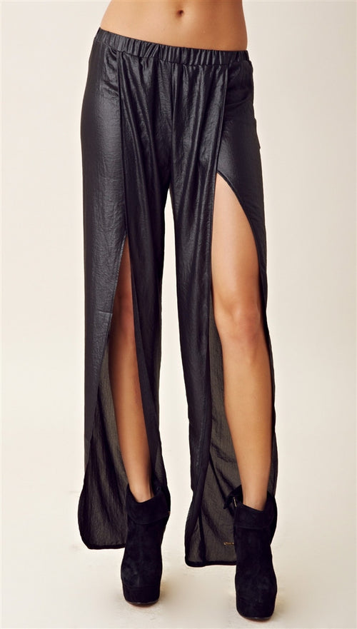 Nightcap Clothing Wide Leg Tulip Pant in Black