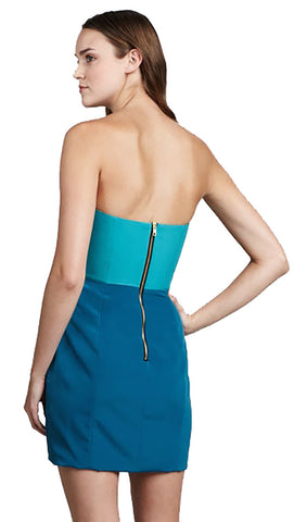 Naven Two Tone Bombshell Dress in Turquoise Green