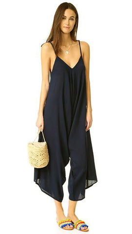 9 Seed Bali Jumpsuit in Black Swim Cover Up