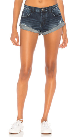 One Teaspoon Low Waist Bandits Denim Shorts Lone Star Cuffed | ShopAA