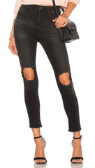 One Teaspoon Freebirds II High Waist Skinny Denim Pant Black Punk