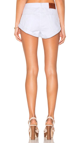 One Teaspoon Bandits Denim Shorts in White Beauty - ShopAA