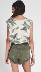 One Teaspoon High Waist Bandit Shorts Super Khaki