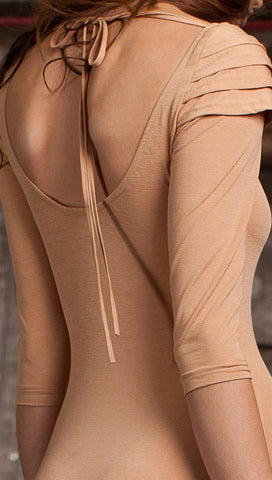 Pascucci Tarsilla Long Sleeved Bodysuit in Nude