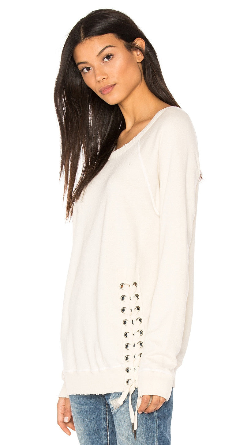 n:Philanthropy Mika Lace Up Sweatshirt Magic White