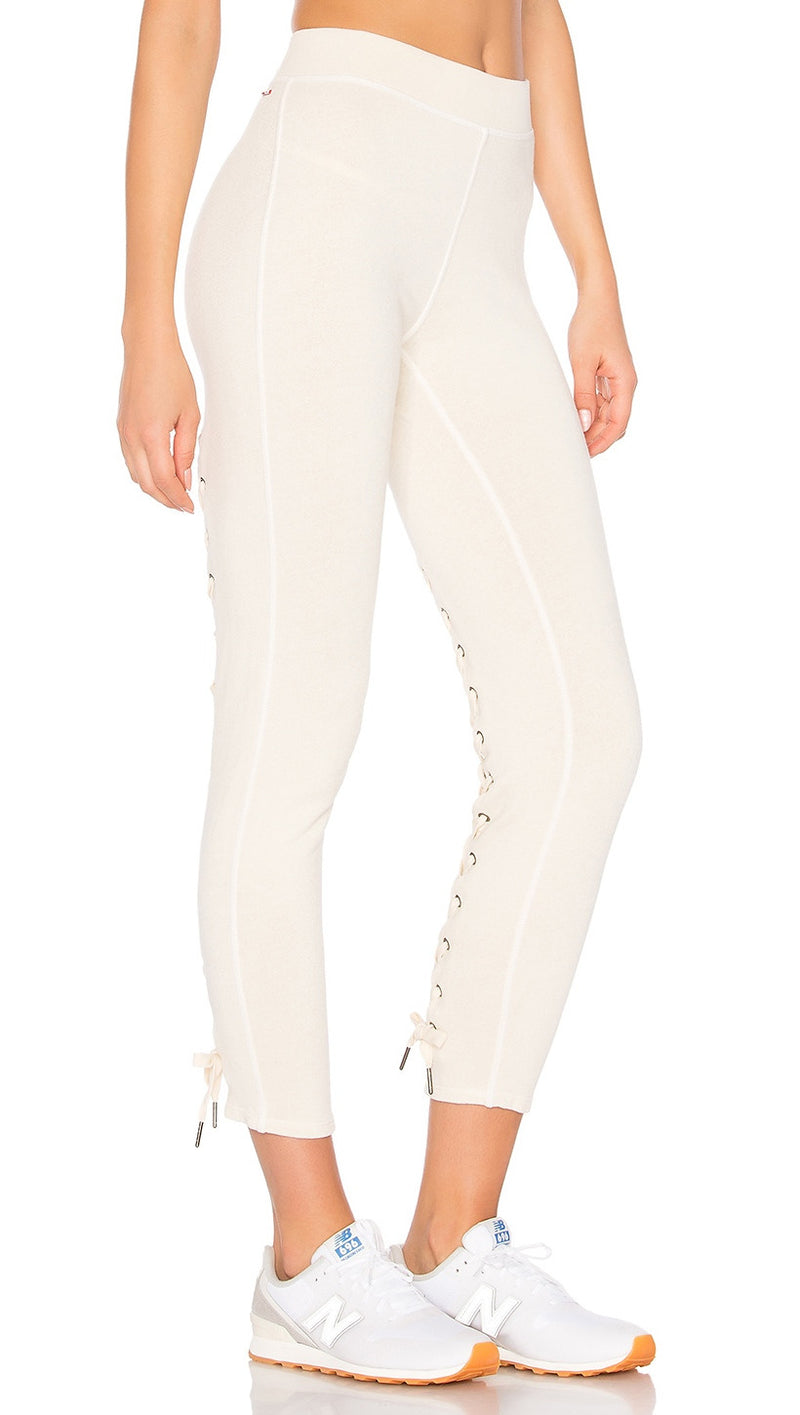 n:Philanthropy Reiko Lace Up Back Skinny Active Sweats White Magic