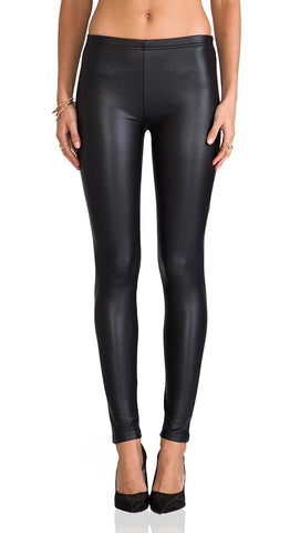 Plush Fleece Lined Liquid Legging Pleather Faux Leather | ShopAA