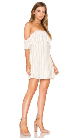 Privacy Please Norval Off the Shoulder Dress Creme