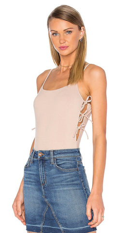 Arden Bodysuit in Pale Pink by Privacy Please