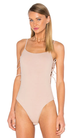 Privacy Please Arden Bodysuit in Pale Pink