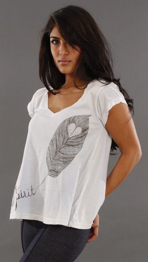 Public Library Free Spirit Feather Swing Tee