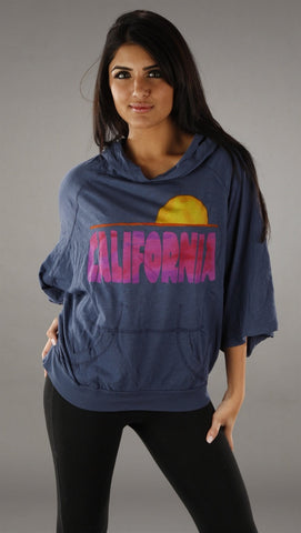 Public Library California Sun Hoodie in Navy