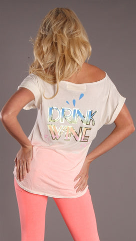 Public Library Drink Wine Tee