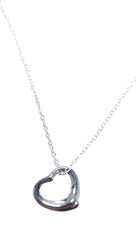 Elsa Peretti Tiffant Silver Rounded Heart Pendant Necklace
