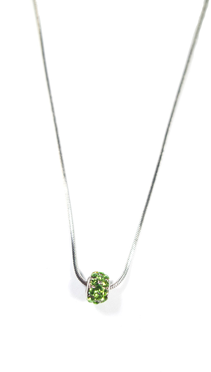 Apparel Addiction Jewelry Green Stone Bead Necklace