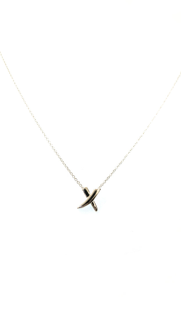 X Marks The Spot Silver Kiss Necklace Elsa Peretti Tiffany Co
